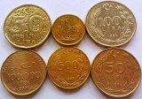 Lot / Set 6 Monede Diferite - TURCIA *cod 1698, Europa