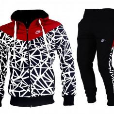 Trening Nike Caro Barbati-Dama Gros Iarna Model nou! - Trening barbati Nike, Marime: S, M, L, XL, XXL, Culoare: Albastru, Rosu