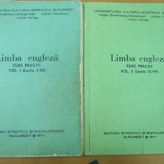 Limba engleza curs practic 2 volume Bucuresti 1977 V. Stefanescu - Draganesti - Curs Limba Engleza