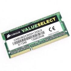Corsair SODIMM DDR3 ValueSelect 8GB 1333MHz CL9 CMSO8GX3M2A1333C9 - Memorie RAM laptop