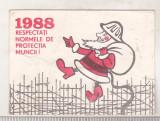 bnk cld Calendar de buzunar 1988 - Protectia muncii