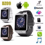 2 in 1: Smartwatch DZ09 si Telefon, Bluetooth, Camera, Sim, Card, Android & iOS, Otel inoxidabil, Argintiu, Android Wear