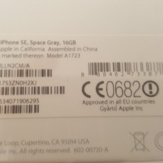 IPhone SE 16G space gray nou sigilat garantie neverlock - Telefon iPhone Apple, Gri, 16GB
