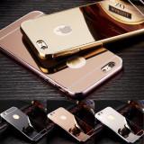 Husa / Bumper aluminiu + spate acril oglinda pentru iPhone 6 / 6s / 6 plus, Auriu