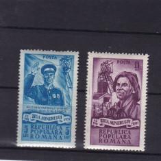 ROMANIA 1951 , LP 285 , ZIUA MINERULUI  SERIE MNH