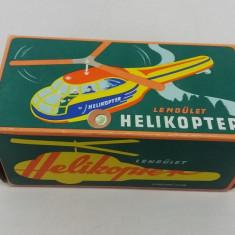 JUCĂRIE VECHE DE COLECȚIE: ELICOPTER UNGURESC DIN TABLĂ/ ANII 1980 - Jucarie de colectie