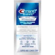 Albirea Dintilor cu Crest Whitestrips Supreme FlexFit - 1 PLIC (2 benzi)