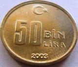 Moneda 50 BIN LIRA - TURCIA, anul 2003 *cod 2733, Europa