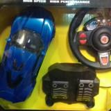 Masinuta cu telecomanda tip volan si pedale+incarcator OFERTA CRACIUN