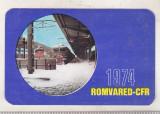 Bnk cld Calendar de buzunar 1974 - CFR Romvared