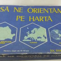 JOC VECHI DE COLECȚIE: SĂ NE ORIENTĂM PE HARTĂ/ 1984 - Joc colectie