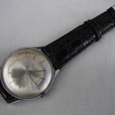 Ceas de mana barbatesc marca POLJOT prevazut cu 16 rubine Made in USSR - Ceas barbatesc Poljot, Elegant, Mecanic-Manual, Piele, Analog, 1940 - 1969