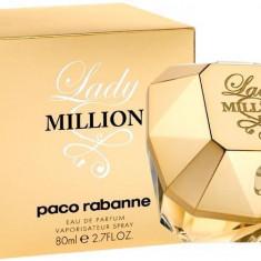Parfum dama Lady Million Paco Rabanne 80 ml Calitate Superioara+CADOU