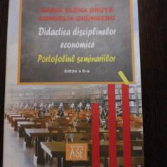 DIDACTICA DISCIPLINELOR ECONOMICE * Portofoliul Seminarelor - M. E. Druta - 2006 - Curs Economie