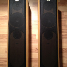 "Pereche Boxe HI FI - ELTAX -Symphony 6 ""Gold "" - 80w- sinus/8 ohm/Denmark/ca NOI, Boxe podea, 121-160W"