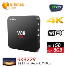 TV BOX OTT SCISHION V88- 4K, 3D, Kodi Quad Core, 1gb, 8gb Wi-Fi, Android 5.1, NOU - Mini PC