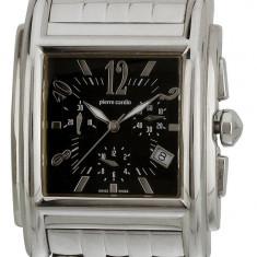 Ceas Pierre Cardin PC100531X03 Carre, cu mecanism elvetian Ronda - Ceas barbatesc Pierre Cardin, Lux - sport, Quartz, Inox, Cronograf