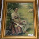 TABLOU PILCH..ORIGINAL - Pictor roman, An: 1930, Portrete, Ulei, Impresionism