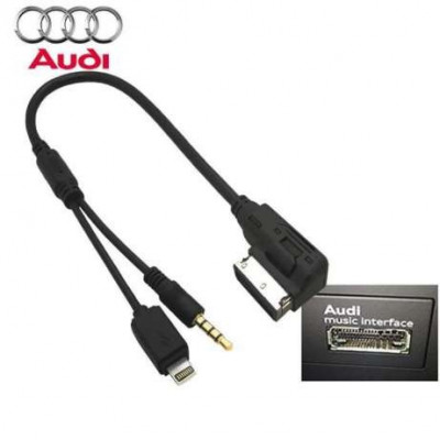 Cablu adaptor AMI-MMI Audi music interface la JACK si mufa 8PIN IPHONE foto