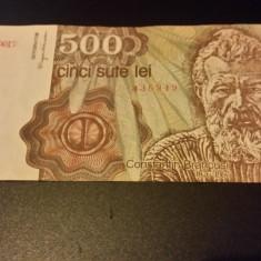 BANCNOTA ROMANIA - 500 LEI 1991 APRILIE C.0017 - Bancnota romaneasca