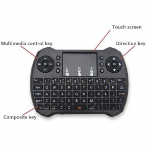 Mini-Tastatura wireless + touchpad pt Smart TV sau PC, reincarcabila