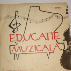 Disc vinil - Educatie muzicala - clasa a VIII-a - Muzica pentru copii