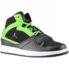 Mar 42 - Noi! Bascheti NIKE Jordan 1 Flight Strap - Adidasi barbati Nike, Culoare: Negru, Piele naturala