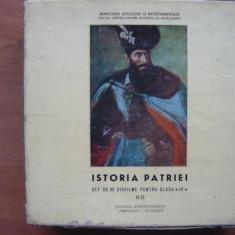 ISTORIA PATRIEI - SET 36 DIAFILME PENTRU CLASA A-IV-A  -  1976