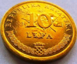 Moneda 10 Lipa - CROATIA, anul 2001 *cod 1894 = A.UNC, Europa