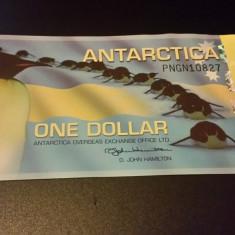 BANCNOTA ANTARCTICA - 1 DOLLAR 2011 SERIA PNGN10827
