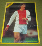 Patru postere de colectie PSV, van Basten, Bayer Leverkusen, Bordeaux anii '80