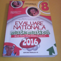EVALUARE NATIONALA MATEMATICA CONSOLIDARE 2016 86 TESTE DUPA MODELUL MECS - Carte Teste Nationale