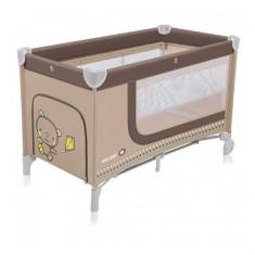 Patut pliabil cu 2 nivele Holiday Beige Baby Design - Patut pliant bebelusi Baby Design, 120x60cm, Crem