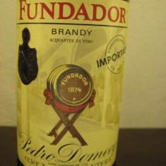 Brandy FUNDADOR, pedro domecq, jerez frontera, (spania), cl 75 gr 38, 5 ani 1980 - Cognac