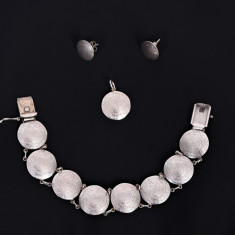 Set argint bratara, pandantiv, cercei - Set bijuterii argint