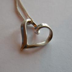 Lantisor de argint si pandant inima -787 - Set bijuterii argint