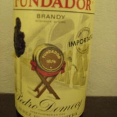 Brandy FUNDADOR, pedro domecq, jerez frontera, (spania), cl 75 gr 40 ani 1970 - Cognac
