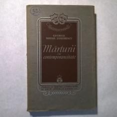George Mihai-Zamfirescu - Marturii in contemporaneitate {1938}