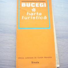 MSHAR - HARTA TURISTICA - MASIVUL BUCEGI - 1976 - PIESA DE COLECTIE