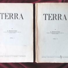 """Carte veche: """"TERRA"""", Vol. I+II, S. Mehedinti, 1931 - Carte Geografie"""