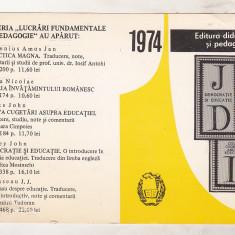 Bnk cld Calendar 1974 - Editura didactica si pedagogica