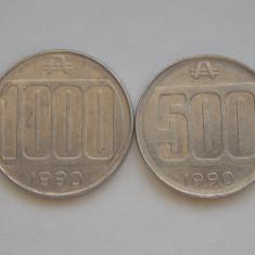 LOT MONEDE 500, 1000 AUSTRALES-ARGENTINA-1990, America Centrala si de Sud