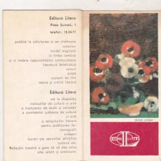 Bnk cld Calendar 1977 1978 - Editura Litera