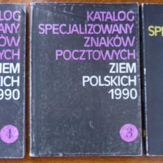 RFL carte filatelie POLONIA 1990 catalog specializat volumele 1, 3 si 4