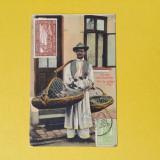 Romania - Vanzator - Pui de Gaina - Carte Postala Muntenia 1904-1918, Circulata, Fotografie