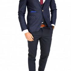 Sacou tip Zara Man bleumarin - sacou barbati - COLECTIE NOUA - 7645, Marime: 46, 48, 50, 52, 54, 56, Culoare: Din imagine