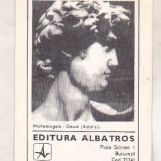 Bnk cld Calendar de buzunar 1982 - Editura Albatros