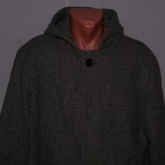 Geaca / Palton barbati duffle coat MCNEAL marimea L din lana fara captuseala gri, Marime: 50, L