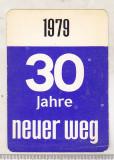 Bnk cld Calendar de buzunar 1979 - Neuer Weg