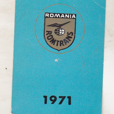 bnk cld Calendar de buzunar 1971 - Romtrans